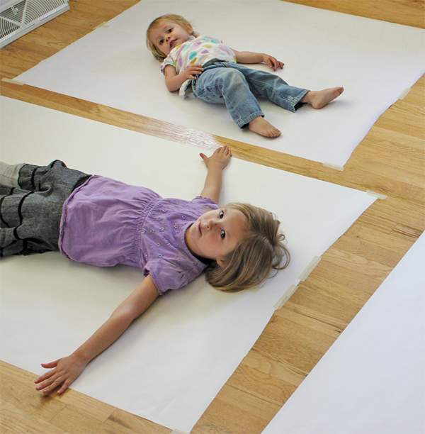 Body Tracing and Painting from Artful Parent