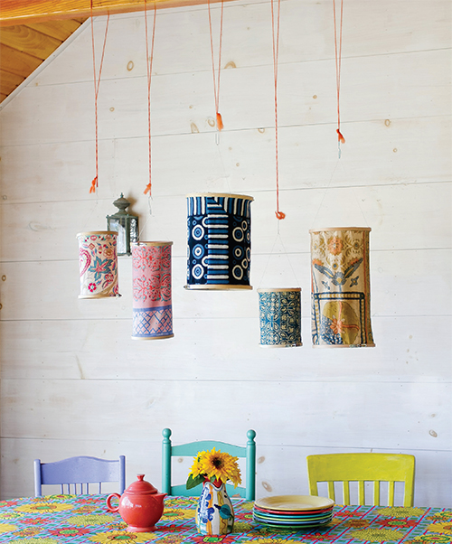 Embroidery Hoop Lanterns from Crafting a Colorful Home