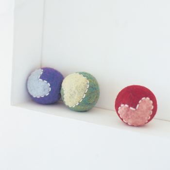 Clatter Balls from Felting for Baby