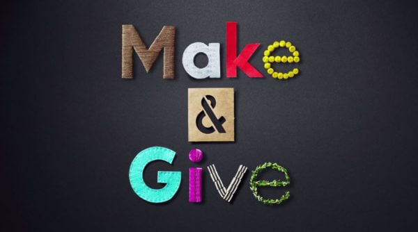 Watch the Make & Give Book Trailer!