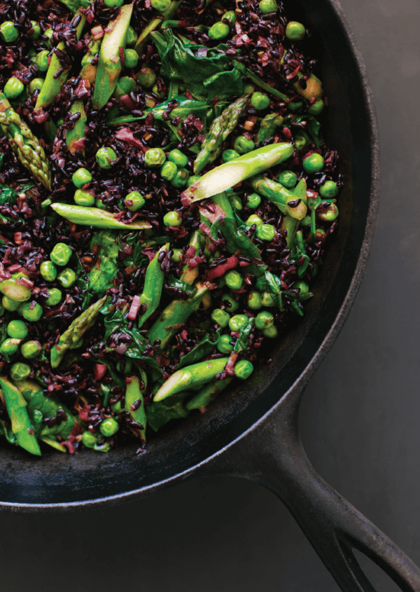 Recipe: Spring Vegetable Black Rice Pilaf from Simply Vibrant