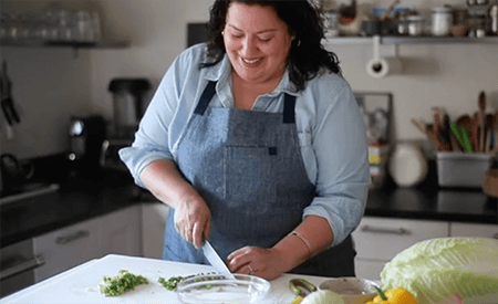 VIDEO: Maggie Battista's A New Way to Food & learning to love yourself