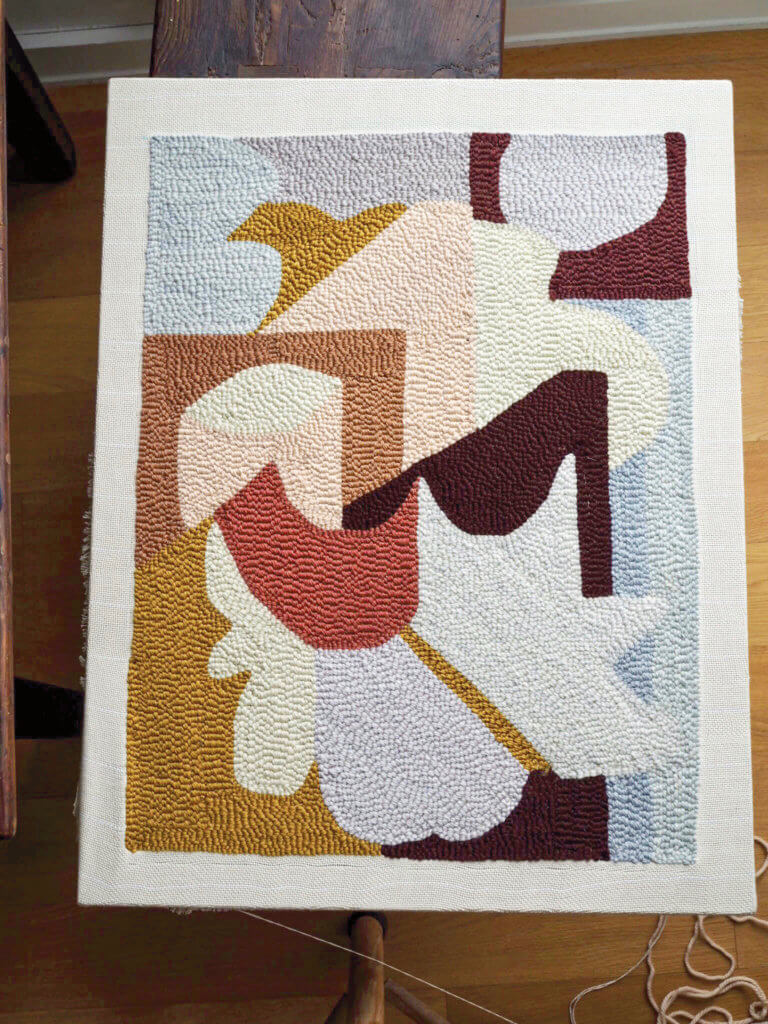 Diy Bath Mat From Modern Rug Hooking Featured In Domino Roost Books